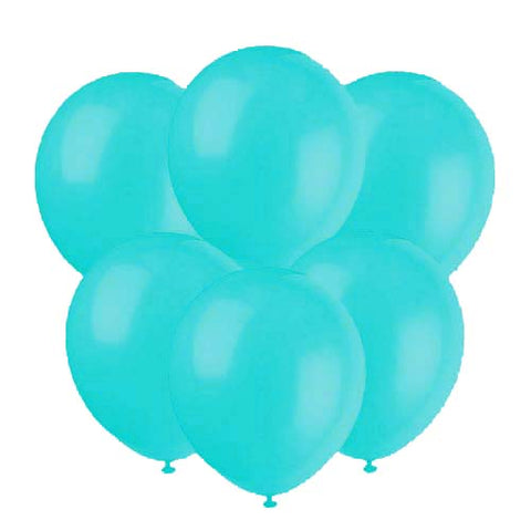 Aqua blue latex 12 inch party balloons 6 count