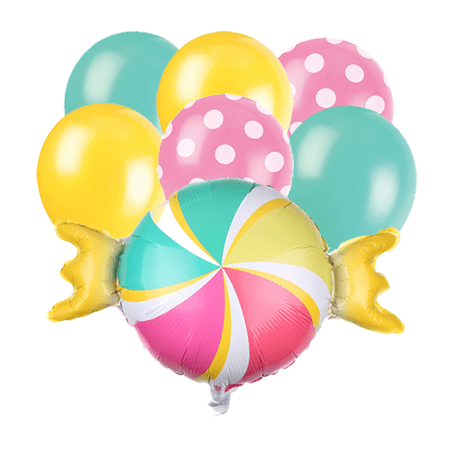 Candy balloon bouquet 7 count
