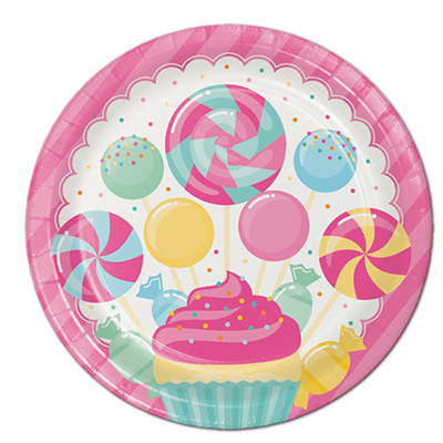 Candy Boutique Party Plates 8 Count, Candy Party, Candy Land Theme Birthday, Candy Land Party Supplies, Candy party Supplies