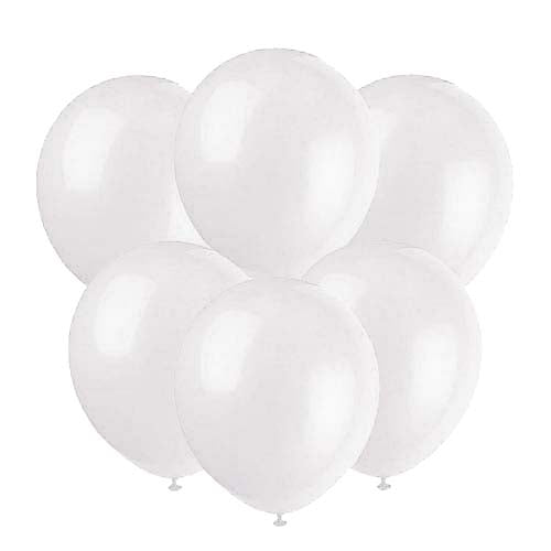 Clear latex 12 inch party balloons 6 count