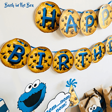 Cookie monster happy birthday banner, Cookie Monster printable, cookie monster banner, cookie monster happy birthday banner, cookie monster cupcake wraps, cookie monster cup cakes, cookie monster party, cookie monster, cookie monster party supplies, cookie monster printable, cookie monster birthday, cookie monster 1st birthday