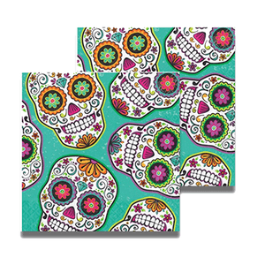 Day of the Dean party napkins 16 count, day of the dead party decor, dias de lost muertos, halloween,  halloween party decor