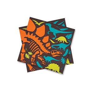 Dinosaur beverage napkins 16 count, dinosaur party, dinosaur party decorations