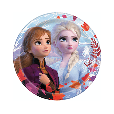 Frozen II Dessert Plates 8 count, Frozen Birthday, Frozen Party, Frozen Party Supplies, Frozen Tableware, Ice Princess, Frozen Dessert Plates
