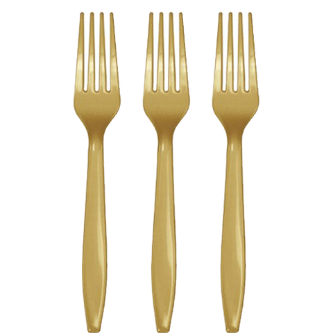 Gold Party Forks 24 Count, Gold Party Forks, Gold Utensils, Gold Cutlery, Gold Tableware, Gold