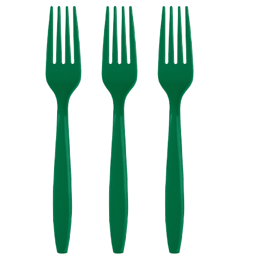 Green Party Forks 24 Count, Green Utensils, Green Cutlery, Green Tableware, Green