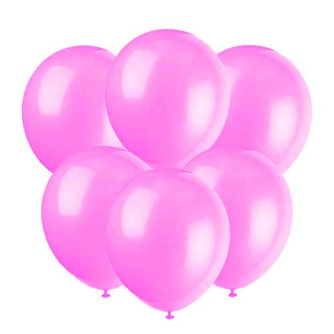 Pink latex 12 inch party balloons 6 count