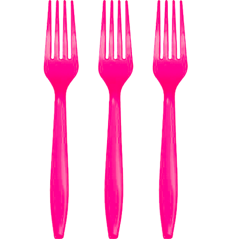 Hot Pink Forks 24ct