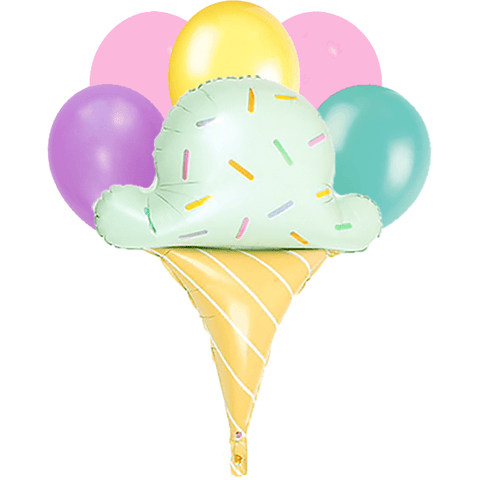 Ice cream cone balloon bouquet 6 count