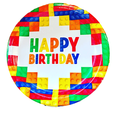 Lego Party Plates 18 Count, Lego Birthday Theme, Lego Party Plates, Lego Tableware, Lego Party Supplies, Lego Birthday