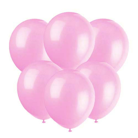 Light pink latex 12 inch party balloons 6 count