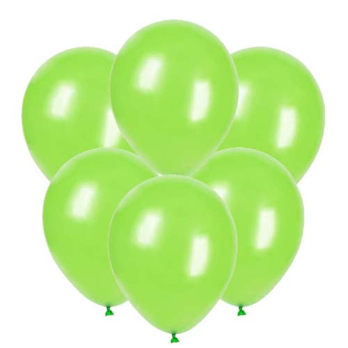 Lime green latex 12 inch party balloons 6 count
