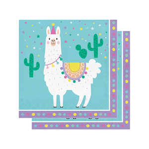Llama party napkins 16 count, llama, llama party decor, llama birthday, llama lunch napkins