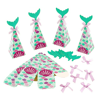 Mermaid Tail Favor Boxes 10ct