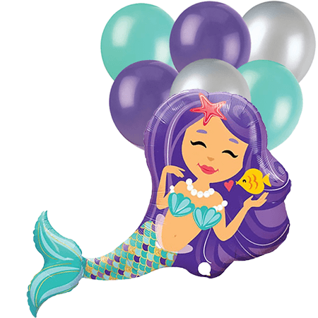 Mermaid Foil Balloon Boutique 7 piece