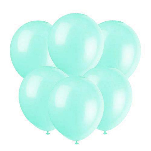 Mint latex 12 inch party balloons 6 count