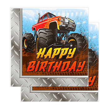 Monster Truck Party Napkins 20 Count, Monster Truck Party Box, Monster Truck Party Plates, Monster truck Dessert Plates, Monster Truck Party Napkins, Monster Truck Party, Monster Truck Party Ideas, Monster Truck Birthday, Monster Truck Party Supplies