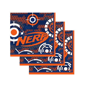 Nerf Party Napkins 16 Count, Nerf Gun Party, Nerf Party Decor, Nerf, Nerf Birthday Ideas