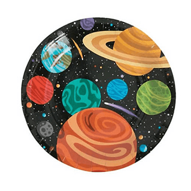 Outer Space Dessert Plates 8 Count, Outer Space Party Decor, Out Space Tableware, Galaxy theme birthday, Galaxy Party Decor, Outer Space Party Supplies