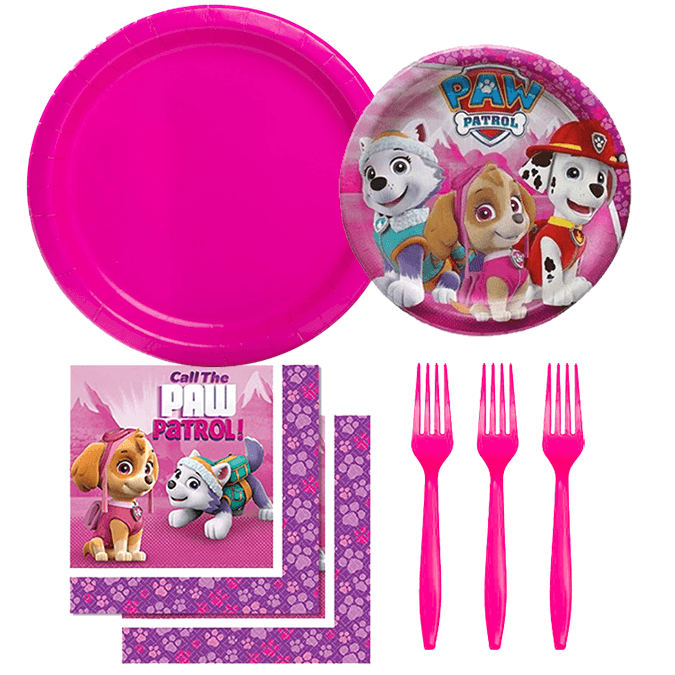 Pink Paw Patrol Party Set, Paw Patrol Birthday, Paw Patrol Tableware, Paw Patrol Party Supplies, Girl Paw Patrol Party, Paw Patrol Dessert Plates, Paw Patrol Lunch Napkins, Paw Patrol Everest, Paw Patrol Skye