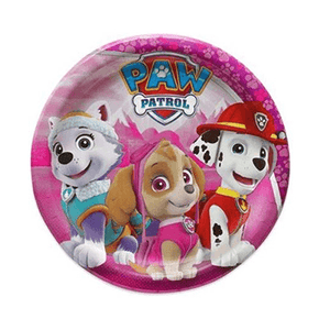Paw Patrol Party Plates 8 count, Paw Patrol Party, Pink Paw Patrol Tableware, Pink Paw Patrol Birthday