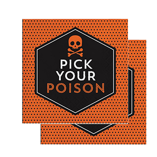 Pick Your Poison Halloween Napkins 16 Count