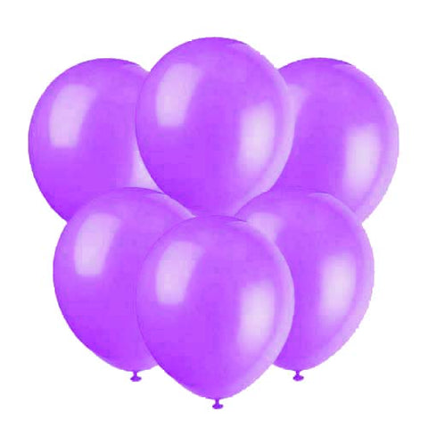 Purple latex 12 inch party balloons 6 count
