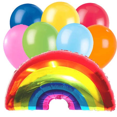 Rainbow Balloon Bouquet 8 piece