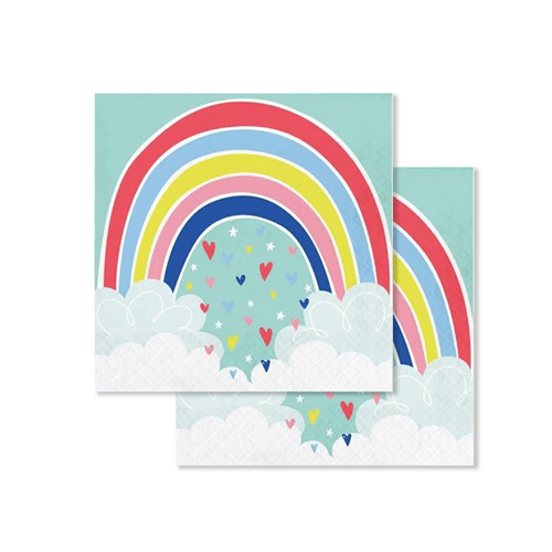 Rainbow Lunch Napkins 16 Count, Rainbow baby shower, Rainbow theme birthday, Rainbow Party, Rainbow Napkins, Party Napkins