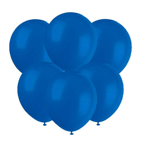 Royal blue latex 12 inch party balloons 6 count