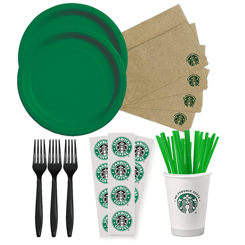 Starbucks Party Kit, Starbucks Party, Starbucks Party Supplies, Starbuck Birthday, Starbucks Printable, Starbucks Tableware, Starbucks Birthday Decor
