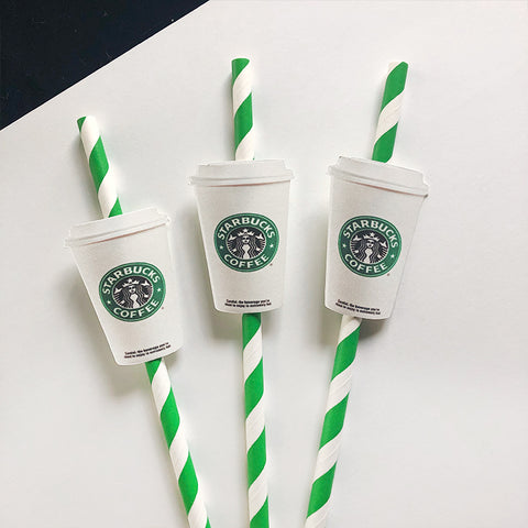 Starbucks Straws, Starbucks, Starbucks coffee, Starbucks frap, Starbucks party, Starbucks birthday, Starbucks party decor, Starbuck Party theme