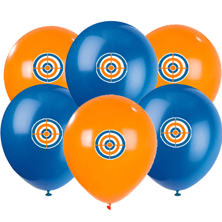 Nerf Party Balloons, Target Nerf Birthday Balloons, Target Stickers Balloons 6 count