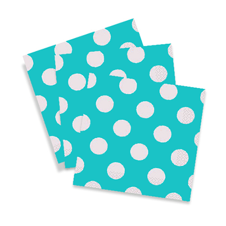 Teal Polkadot Party Napkins 15 Count