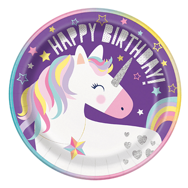 Unicorn party plates 8 count, unicorn party, unicorn tableware, unicorn birthday ideas, unicorn party supplies, unicorn party decor