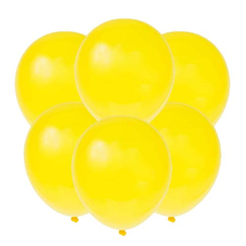 Yellow latex 12 inch party balloons 6 count
