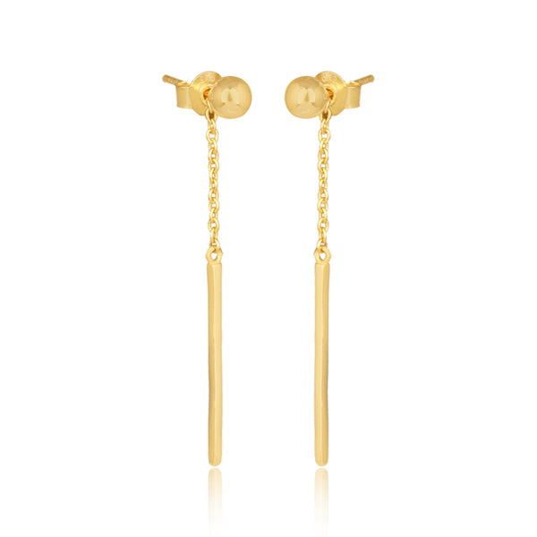 Gold Composure Stud Dangle Earring Set