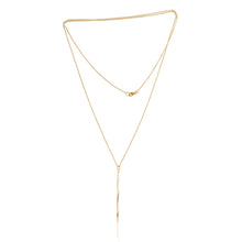 Load image into Gallery viewer, Gold Serenity Path Long Pendant Necklace