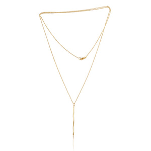 Gold Serenity Path Long Pendant Necklace
