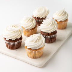 4 pk Vegan Cupcakes w/ Frosting on side