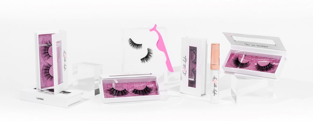 Ready to go 3D mink and faux mink lash kits