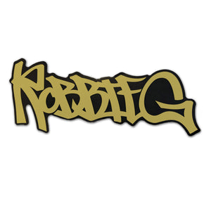 Robbie G GOLD sticker