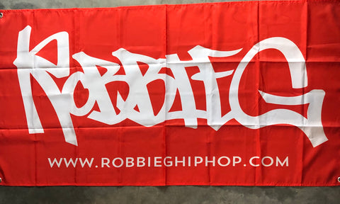 Robbie G flag - Red & White
