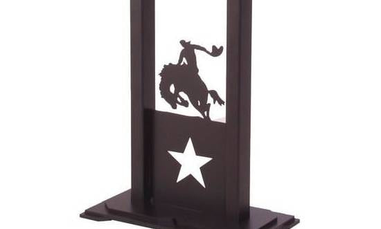 8 Seconds Rodeo Table Lamp Base Close-up