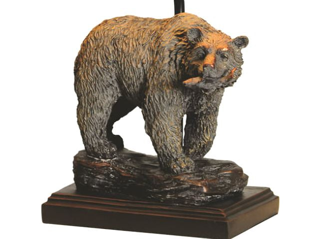 Bear Table Lamp Base Close-up