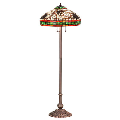 Burgundy Pinecone Floor Lamp