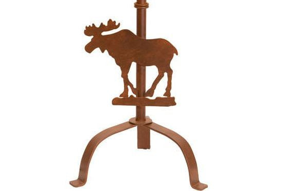 Moose Silhouette Table Lamp Base Close-up