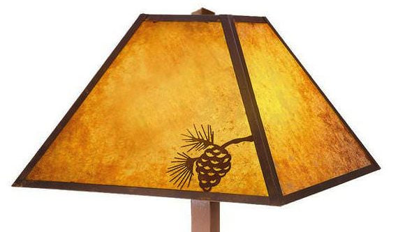 Pine Cone Mission Table Lamp Shade Close-up