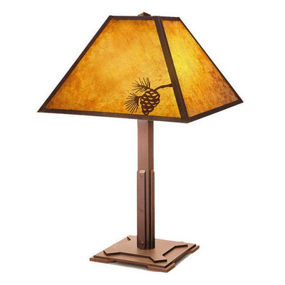 Pine Cone Mission Table Lamp