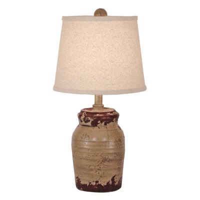 Honey Jar Aged Cottage Accent Lamp